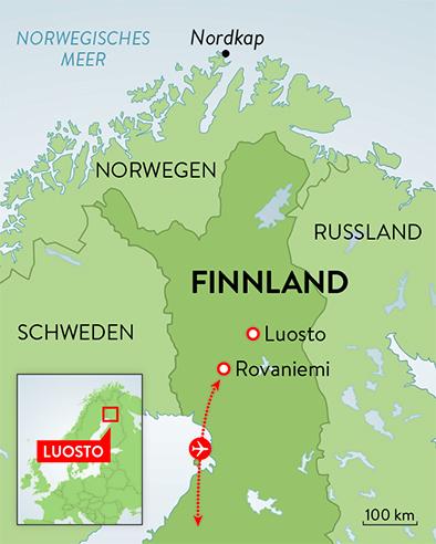 Lappland Karte.Schweizer Familie Magazin