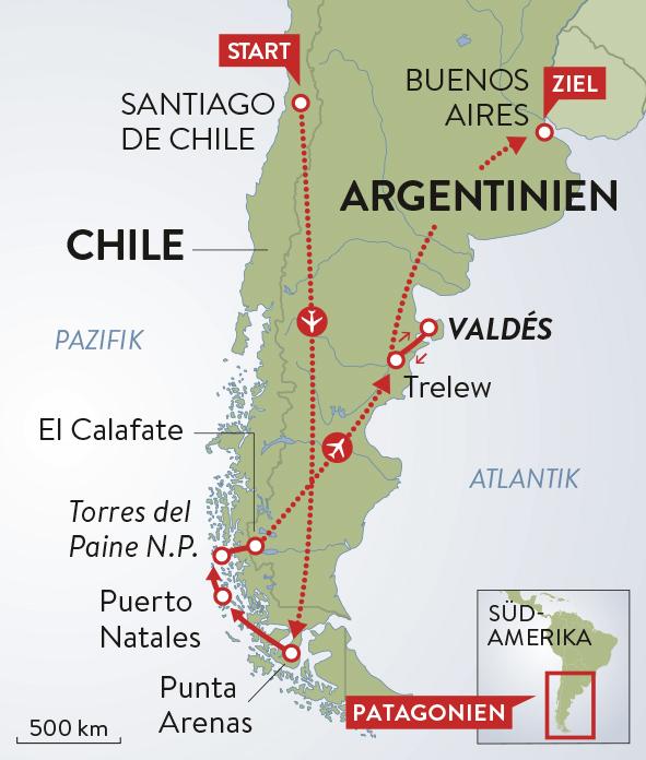 Chile Patagonien Karte.Schweizer Familie Magazin