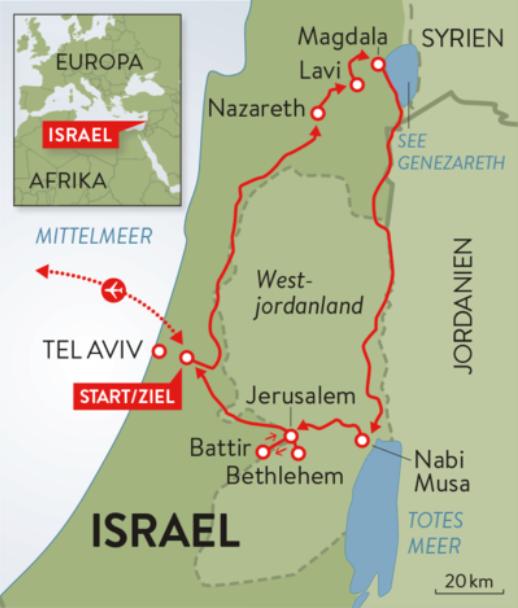 Zur zeit für jesu kinder israel landkarte Bibelatlas